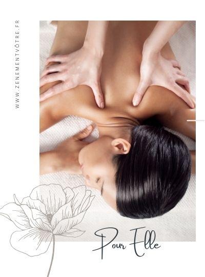 Carte cadeau massage femme